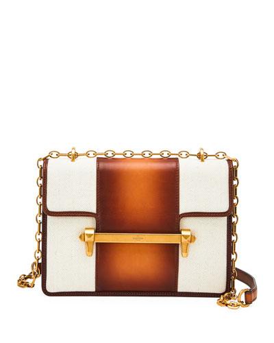 Uptown Bicolor Leather Shoulder Bag