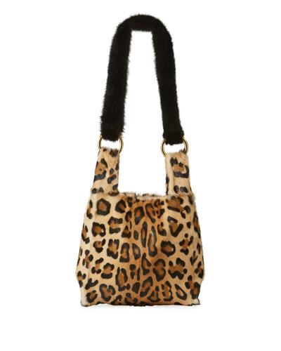 Furrissima Baby Leopard-Print Small Handbag