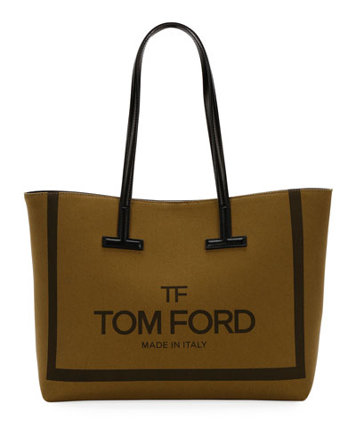 faef3e2ce15d Printed Canvas and Leather Shoulder Tote Bag
