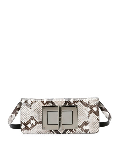 Natalia Long Python Turn-Lock Day Bag