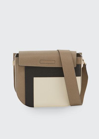 Colorblock Saffiano Twist Crossbody Bag