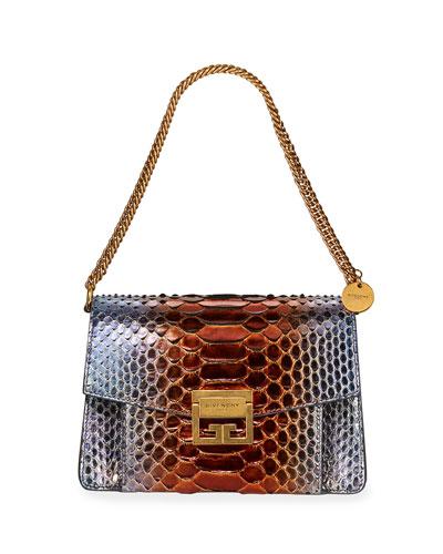 GV3 Small Metallic Python Shoulder Bag