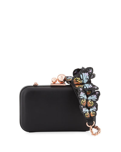 Vivi Butterfly Box Clutch Bag