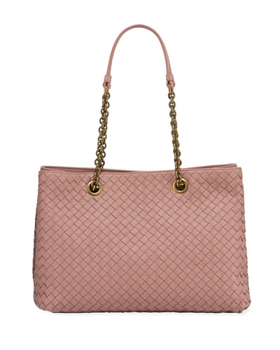 30c531074d30 Intrecciato Small Double-Chain Tote Bag