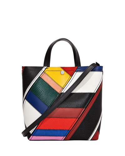 Hex Small Colorful Patchwork Tote Bag