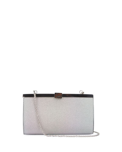 Palmette Small Glitter Sunset Clutch Bag