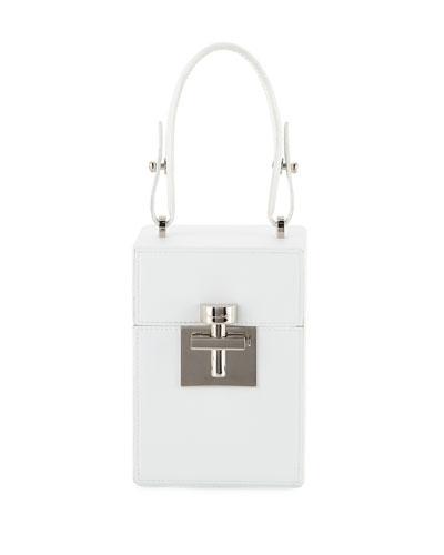 Alibi Box Leather/Suede Top-Handle Bag
