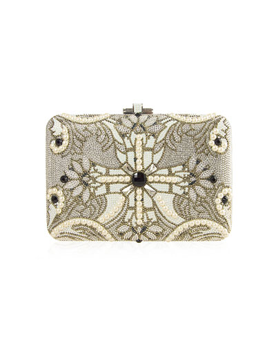 Judith Leiber Couture Slim Slide Pearly Clutch Bag