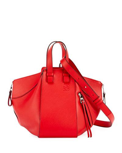 Hammock Medium Grained Leather Satchel Bag