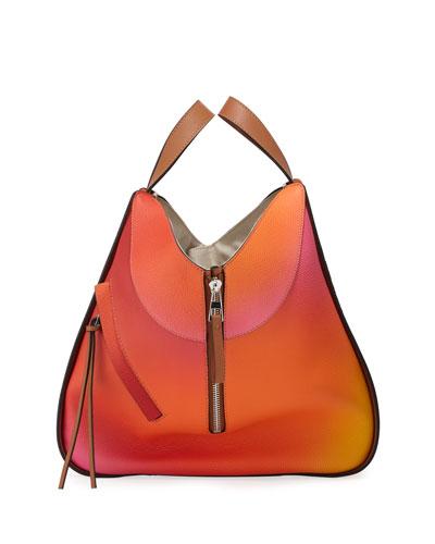 Hammock Color-Gradient Leather Shoulder Bag