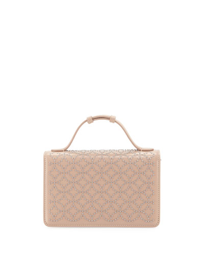 Lux Studded Crossbody Clutch Bag