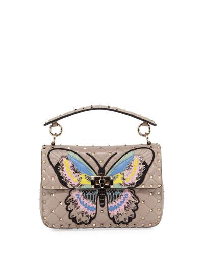 Spike It Medium Butterfly Shoulder Bag