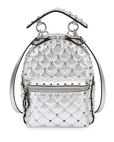 Rockstud Spike Mini Metallic Leather Backpack 19012e05c5fd1