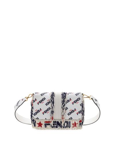 7792a1ffcd8c Baguette Fendi Mania Beaded Fringe Shoulder Bag