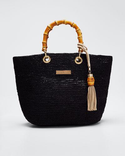 Savannah Bay Super Mini Tote Bag, Black