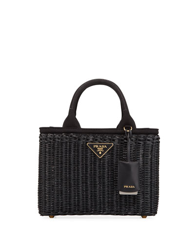 3fc5d5bca760 Wicker Square Basket Tote Bag Quick Look. Prada