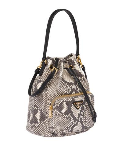 Exotic Python Bucket Bag