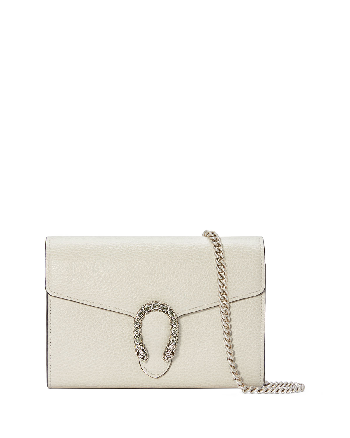 37ccaa39328 Gucci Small Dionysus Leather Clutch - White