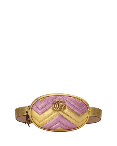 GG Marmont Matelasse Leather Belt Bag