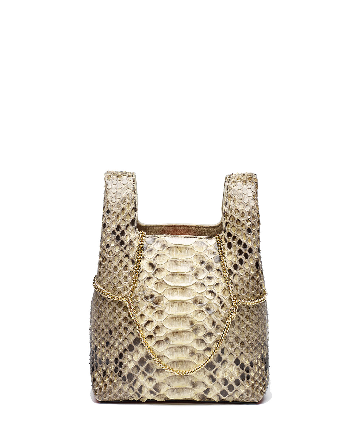 HAYWARD Mini Shopper Tote On Chains in Taupe