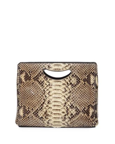 1712 Basket Python Clutch Bag