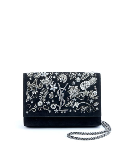 6f1866e441fe Kate Small Monogram YSL Chain Crossbody Bag with Skeleton Charms
