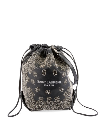 2d561908bb1 Teddy Large Bandana Studded Drawstring Bucket Bag Quick Look. Saint Laurent