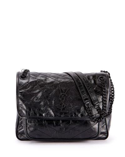 Niki Medium YSL Monogram Flap Shoulder Bag