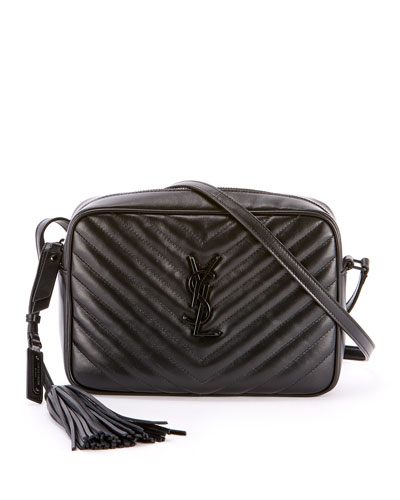 99749137d Loulou Monogram YSL Medium Chevron Quilted Leather Camera Shoulder Bag -  Black Hardware Quick Look. Saint Laurent