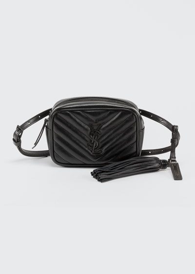 Lou Monogram YSL Quilted Leather Belt Bag - Black Hardware