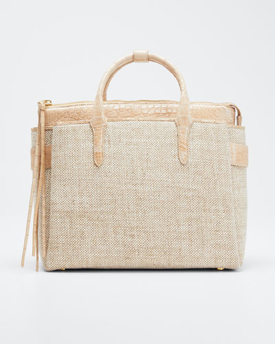 Cristie Small Linen Tote Bag