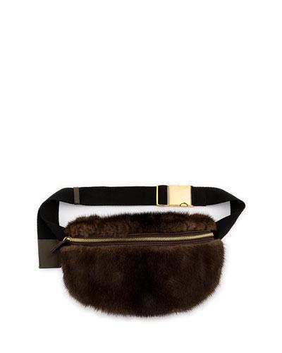 Mink Fur Belt Bag