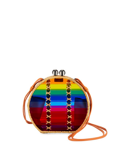Jabuticaba Rainbow Acrylic Crossbody Bag