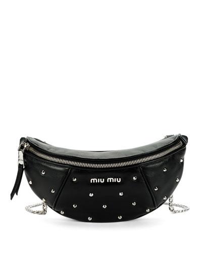 Leather Studded Belt Bag