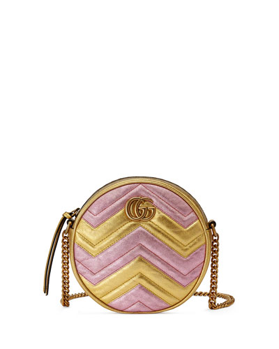 GG Quilted Mini Round Crossbody Bag