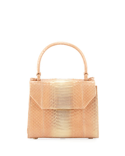 Lily Small Snakeskin Top Handle Bag