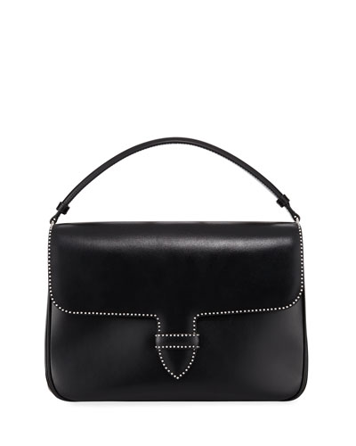 Bettina Medium Smooth Studded Crossbody Bag