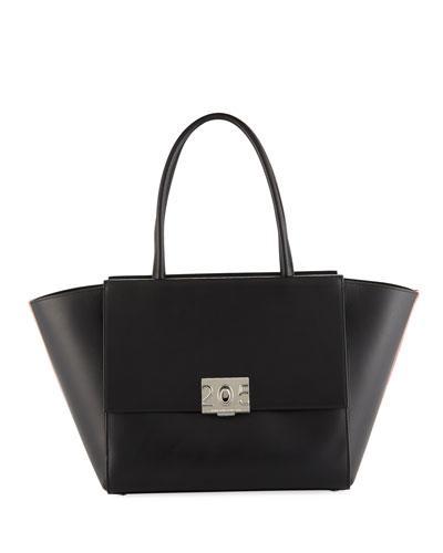 Bonnie Large Leather Top Handle Bag