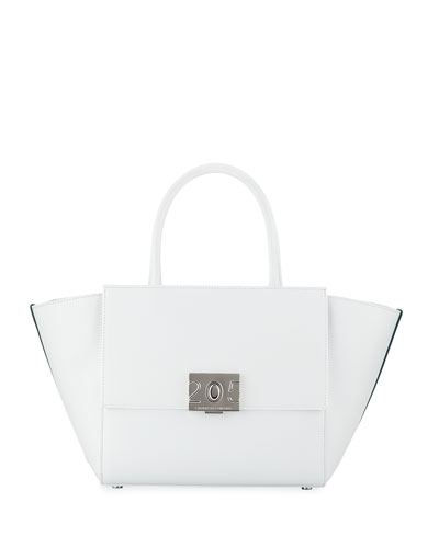 Bonnie Leather Top-Handle Tote Bag