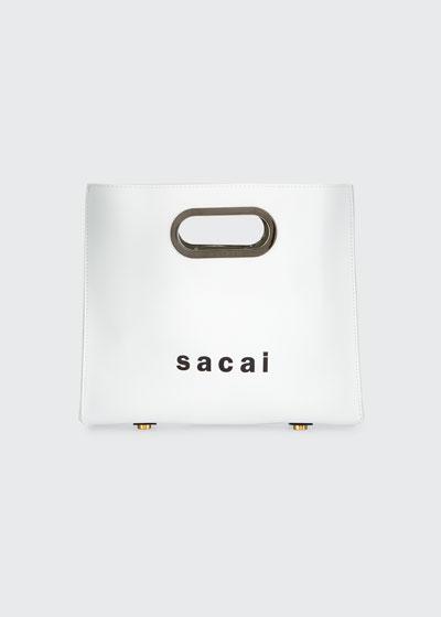 Small Leather Shopper Tote Bag
