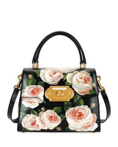 Welcome Medium Palmellato Rose Handbag