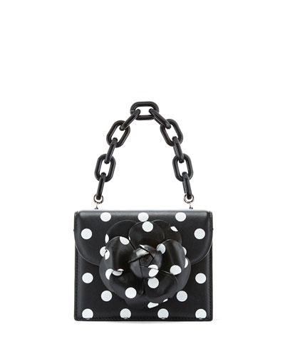 Tro Mini Polka Dot-Print Crossbody Bag