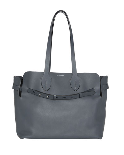 Marais Medium Leather Belted Tote Bag