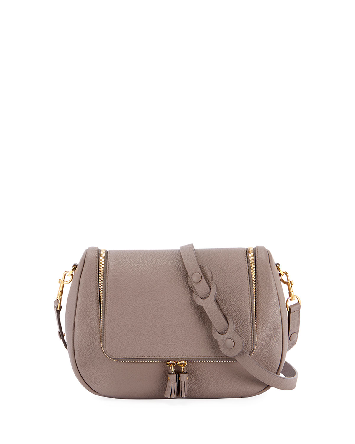 Vere Mini Soft Satchel Bag in Dark Beige