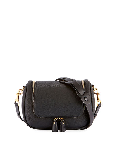 Vere Small Soft Satchel Bag, Black