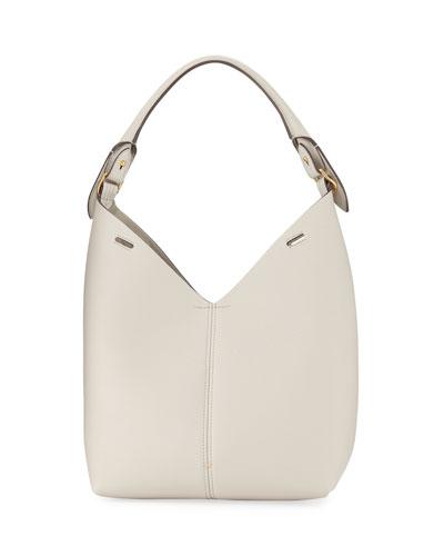 Build A Bag Small Grain Leather Bucket Bag