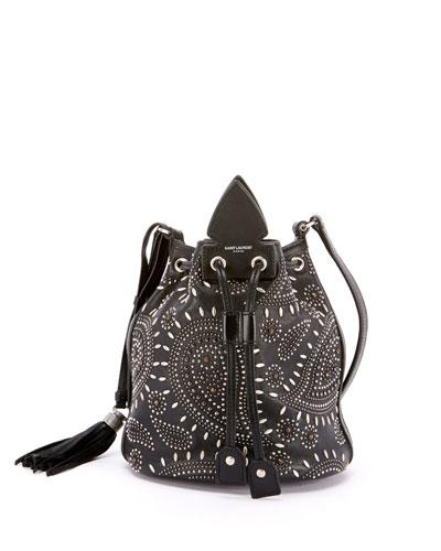 Anja Small Studded Bandana Bucket Bag