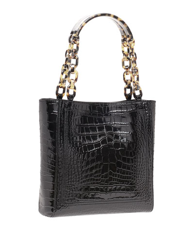 Mini Exotic-Embossed Tote Bag