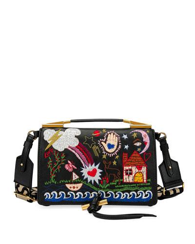 3344cf0e634 Small Alter Napa Scenery Embroidered Shoulder Bag