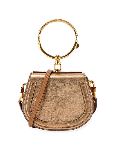 288ec4e056 Nile Small Metallic Bracelet Bag Quick Look. Chloe